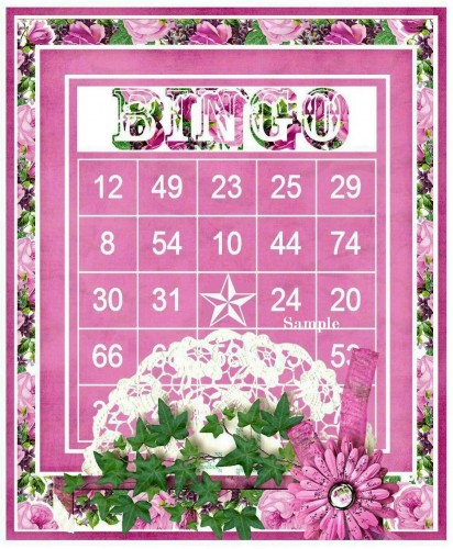 Cottage Chic Polaroid Frames Bingo Cards Set for Toppers, Insert
