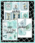 SUNKISSED Nautical Journal Kit -20 Pages, 65 Embellishments
