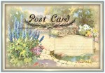 Cottage Garden Post Card Set for Toppers, Inserts, Journals