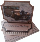 Swiss Car Easel Card