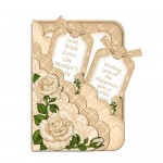 Ivory Rose Scalloped Pocket Card