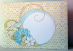 Pretty Floral Double Pop Out Pyramage Card Envelope Front