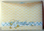 Pretty Floral Double Pop Out Pyramage Card Envelope Back