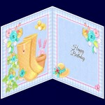 Card Inserts with Birthday greeting