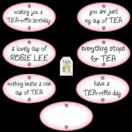 "Choice of Plaques & ""tea time"" Tag"