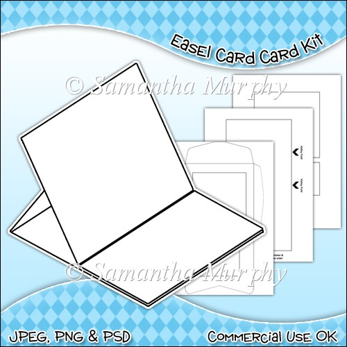 Easel card envelope template commercial use ok for Card making templates free download