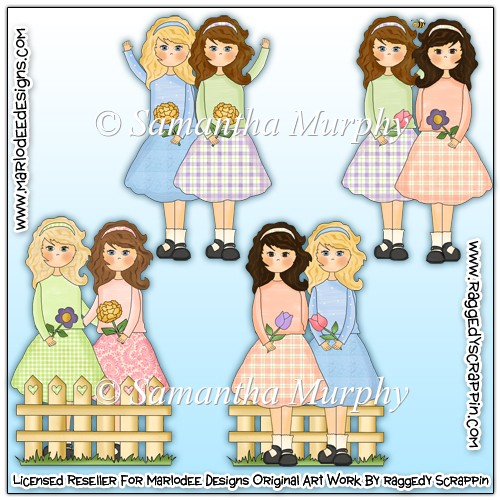 Best Friends Sisters Clip Art Download - £0.75 : Instant Card ...