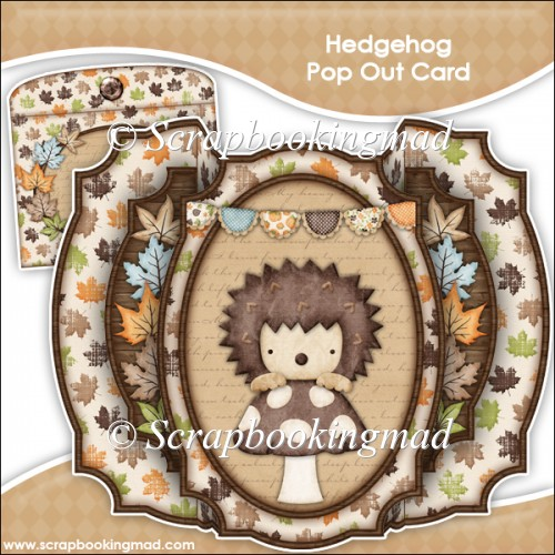 hedgehog pop up card hedgehog pop out card amp envelope 163 1 25 instant 4658