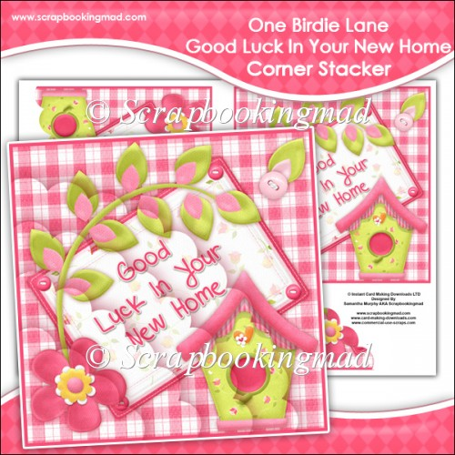 One Birdie Lane - Good Luck In Your New Home Corner Stacker - Click Image to Close