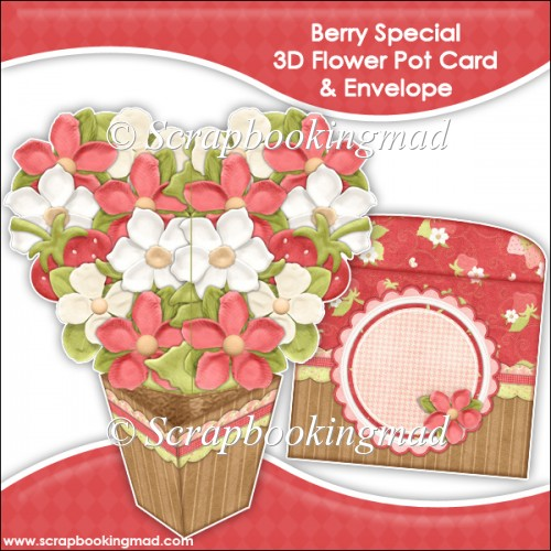 Berry Special 3D Flower Pot & Envelope - Click Image to Close