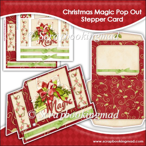 Holiday Magic Pop Out Stepper Card - Click Image to Close