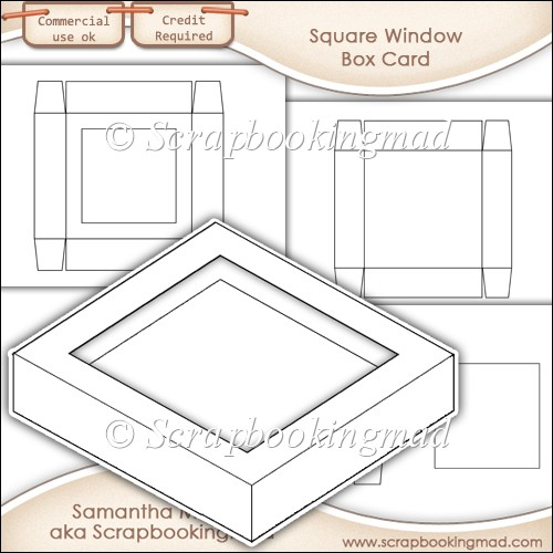 window box card square window template commercial use ok 3 00