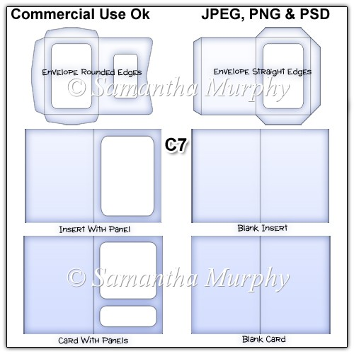 card making templates free download - c7 envelope card insert templates commercial use