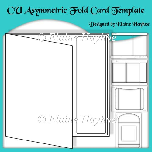 index card template for pages - cu asymmetric fold card template instant card