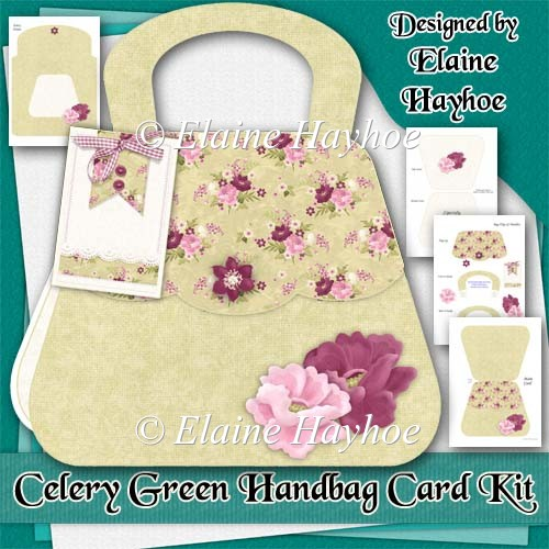 Celery Green Handbag Card Kit - Click Image to Close