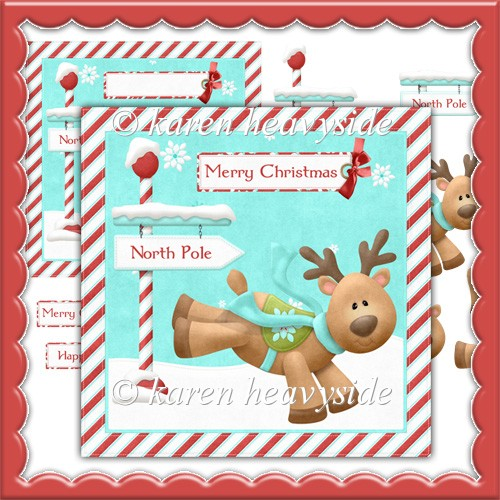 Merryrudolph Xmas 2 Card Front - Click Image to Close