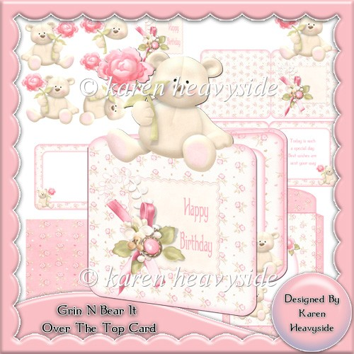 Grin N Bear It Over The Top Card - Click Image to Close