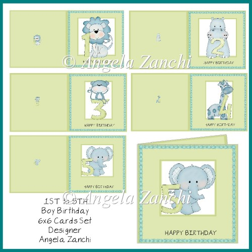 1st to 5th BOY BIRTHDAY CARD SET - Click Image to Close