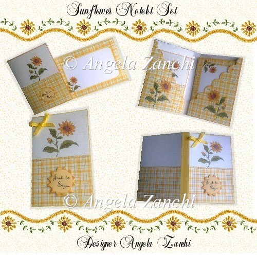 SUNFLOWER NOTELET SET - Click Image to Close