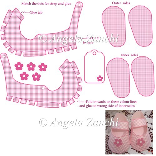 MINI PINK SHOE TEMPLATE - Click Image to Close