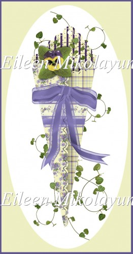 Pansy Victorian Cone Clipart - Click Image to Close