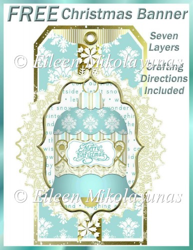 FREE Layered Christmas Tag Banner - Click Image to Close