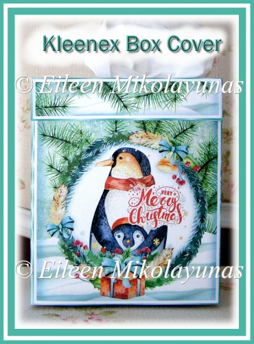 Penguin Family Christmas Kleenex Tissue Box Cover - Click Image to Close