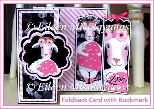 Romance Foldback Card with Bookmark Set Insert - Click Image to Close