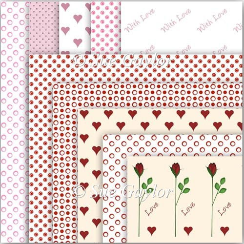 Valentine Backing Papers - Click Image to Close
