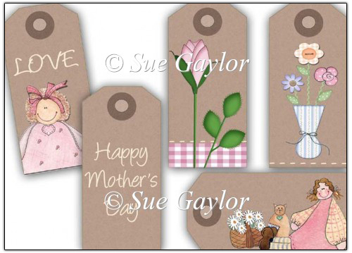 Mother's Day Gift Tags - Click Image to Close