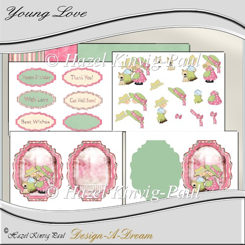 Young Love Card Kit - Click Image to Close