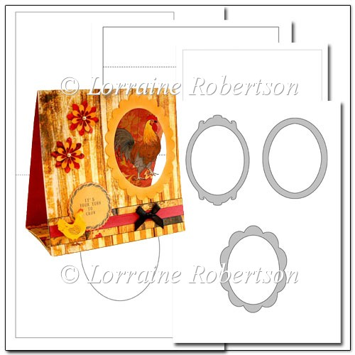 Tent card template instant card making downloads for Card making templates free download