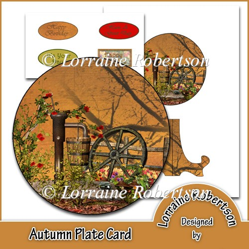 Autumn Plate Card - Click Image to Close