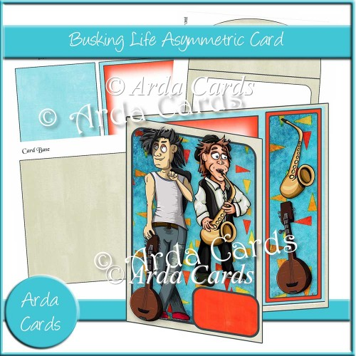 Busking Life Asymmetric Card - Click Image to Close