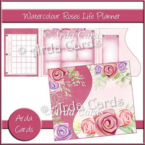 Watercolour Roses Life Planner - Click Image to Close