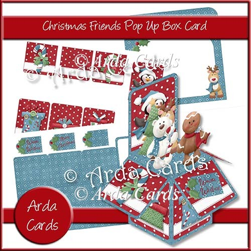 Christmas Friends Pop Up Box Card - Click Image to Close