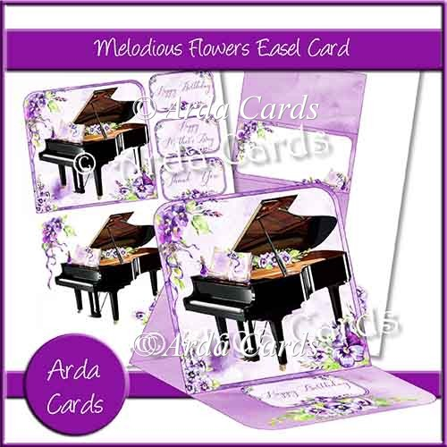 Melodious Flowers Easel Card - Click Image to Close
