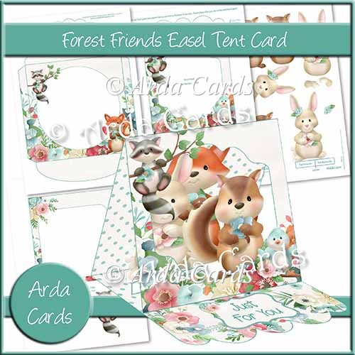 Forest Friends Easel Tent Card - Click Image to Close
