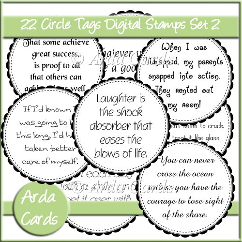 CU Circle Tags Digital Stamps Set 2 - Click Image to Close