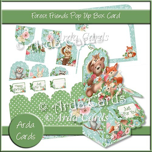 Forest Friends Pop Up Box Card - Click Image to Close