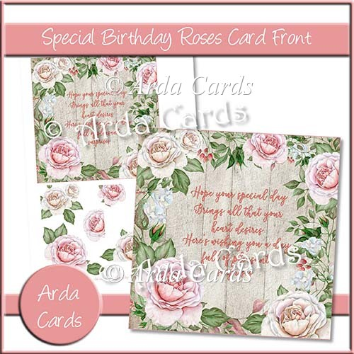 Special Birthday Roses Card Front - Click Image to Close