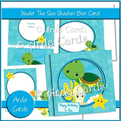 Under The Sea Shadow Box Card - Click Image to Close