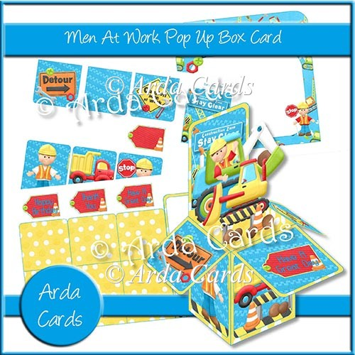 Men At Work Pop Up Box Card - Click Image to Close