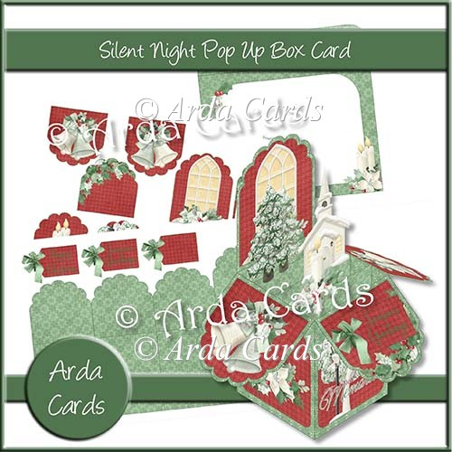 Silent Night Pop Up Box Card - Click Image to Close