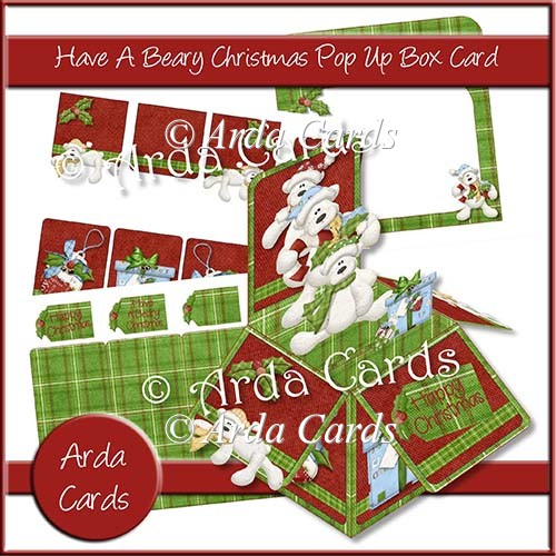 Have A Beary Christmas Pop Up Box Card - Click Image to Close