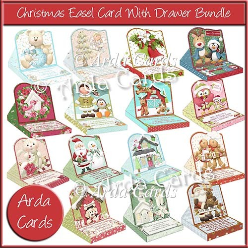 Christmas Easel Card With Drawer Bundle - Click Image to Close
