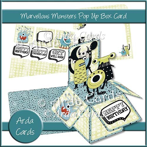 Marvelous Monsters Pop Up Box Card - Click Image to Close