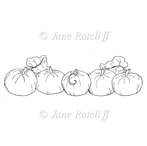 Pumpkin Border - Digital Stamp - Click Image to Close