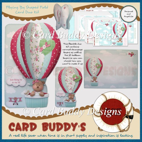 Flying By Shaped Fold Card Duo Kit - Click Image to Close