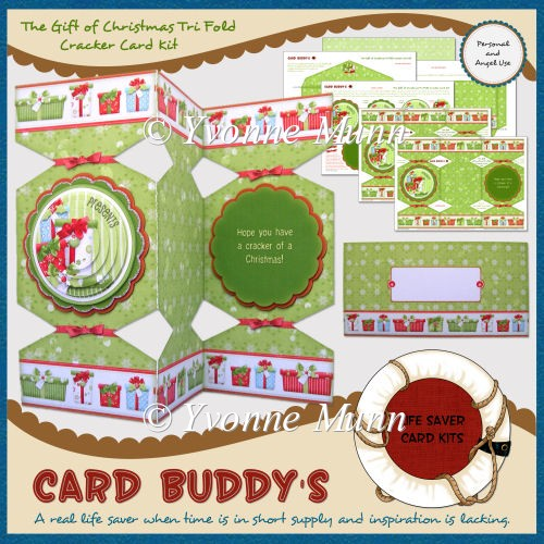The Gift of Christmas Tri Fold Cracker Card Kit - Click Image to Close